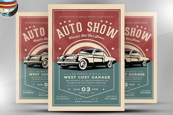 Old Classic Car Show Flyer Template Flyer Template Template And