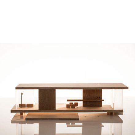 Puppenhaus Holz möbliert modern modular sirch - dorfhaus - designer moebel einrichtung modern
