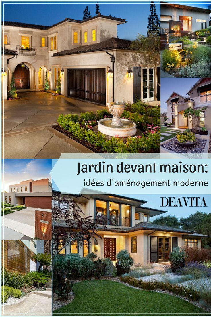 Aménagement jardin devant maison en 50 idées modernes | Pinterest
