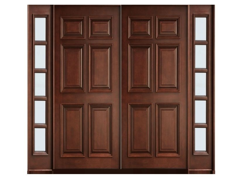 Six Panel Main Double Door Design Pid008   Main Doors Design   Door Designs    Product