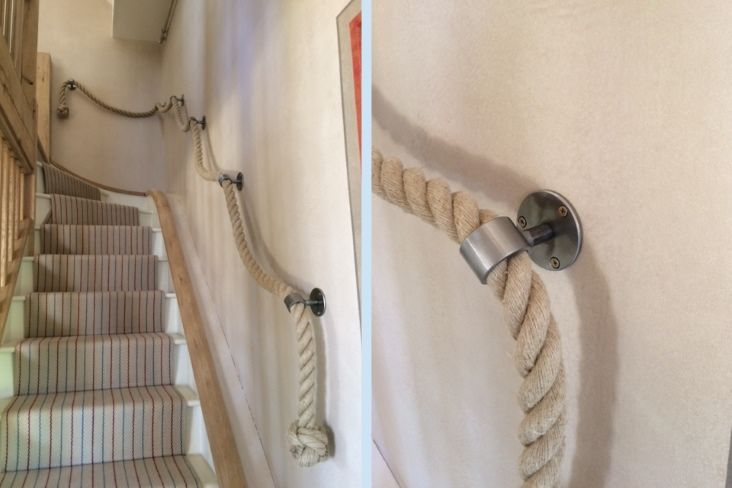 Best 36Mm Natural H*Mp Rope Handrail With Blacksmith Made 400 x 300