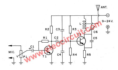 efa9408f8acb96d56e9875fc2d13c314 the schematic diagram of 2w(2 km) 88 108 mhz frequency vhf fm  at bayanpartner.co