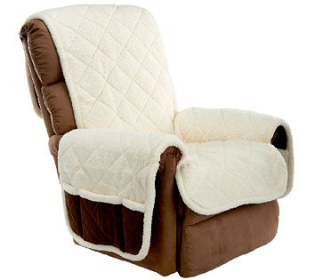 Admirable Sure Fit Reversible Faux Suede Sherpa Recliner Furniture Pdpeps Interior Chair Design Pdpepsorg