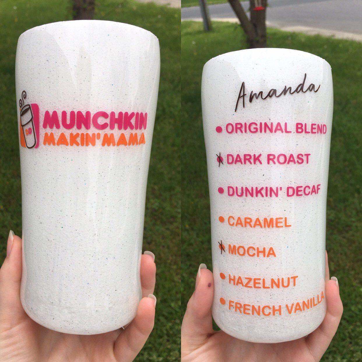 Customizable Dunkin' Donuts Logo Custom Name & Drink