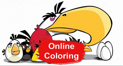 Angry Birds Online Coloring