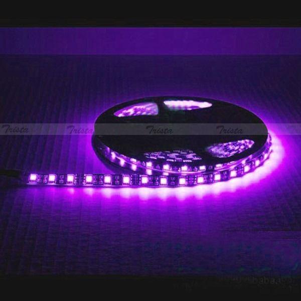 Waterproof Pink 5M 300 Leds Lamp 5050 SMD LED Flexible Strip Light 12V Black PCB