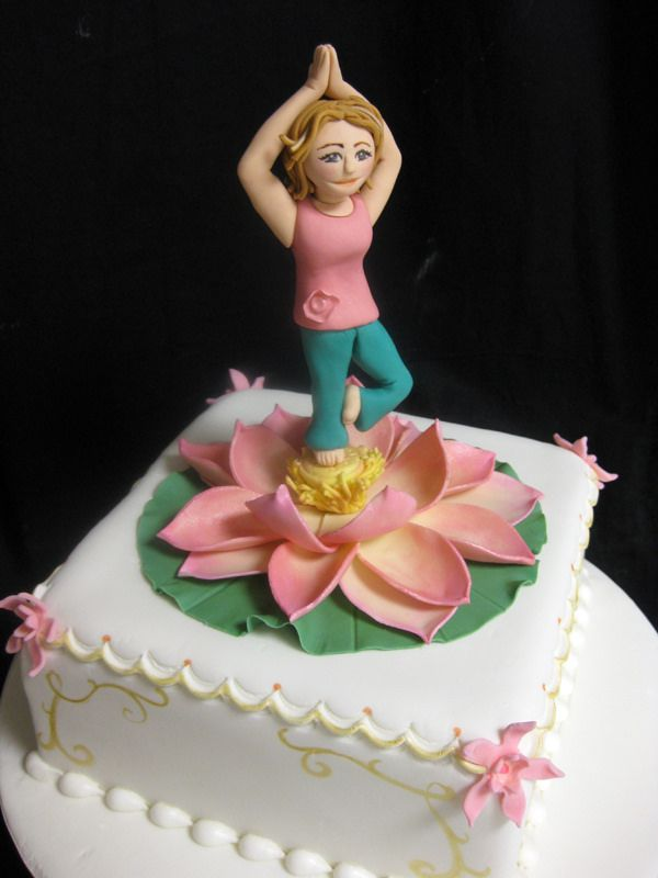 19 Cake Design For Yoga Theme Ideas Cake Design Cake Cake Decorating