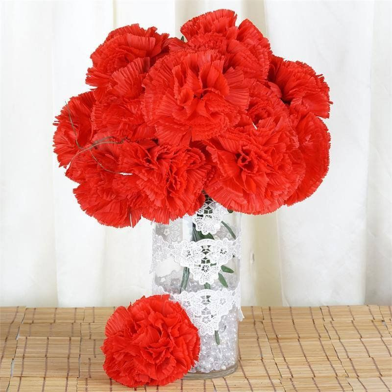 36 giant artificial carnation flowers red carnation silk 36 giant artificial carnation flowers red mightylinksfo