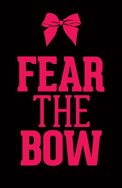 Fear The Bow Magenta Art Print By Rexlambo Society6 Bow Wallpaper Cheer Quotes Bows