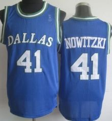 2987703075d Dallas Mavericks 41 Dirk Nowitzki Blue Hardwood Classics Revolution 30 NBA  Jerseys Wholesale Cheap