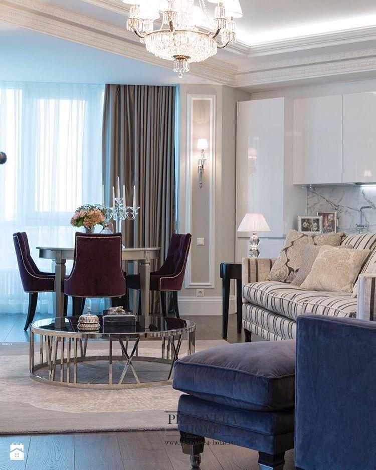 Wnętrza w stylu MOdern Classic Salon styl nowojorski zdjęcie od