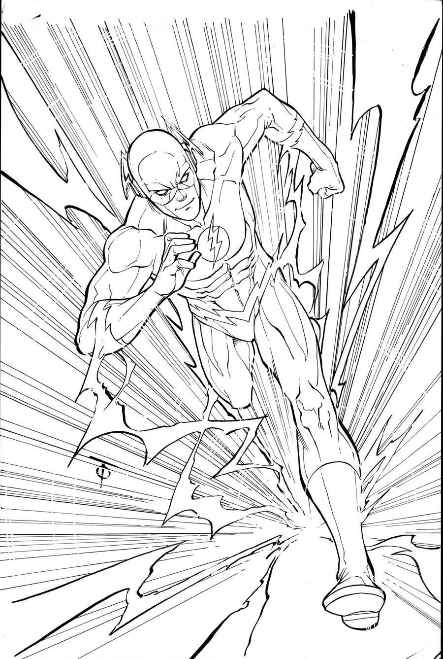 Flash By 0boywonder0 On Deviantart Vision Comic Cute Coloring Pages Flash Comics
