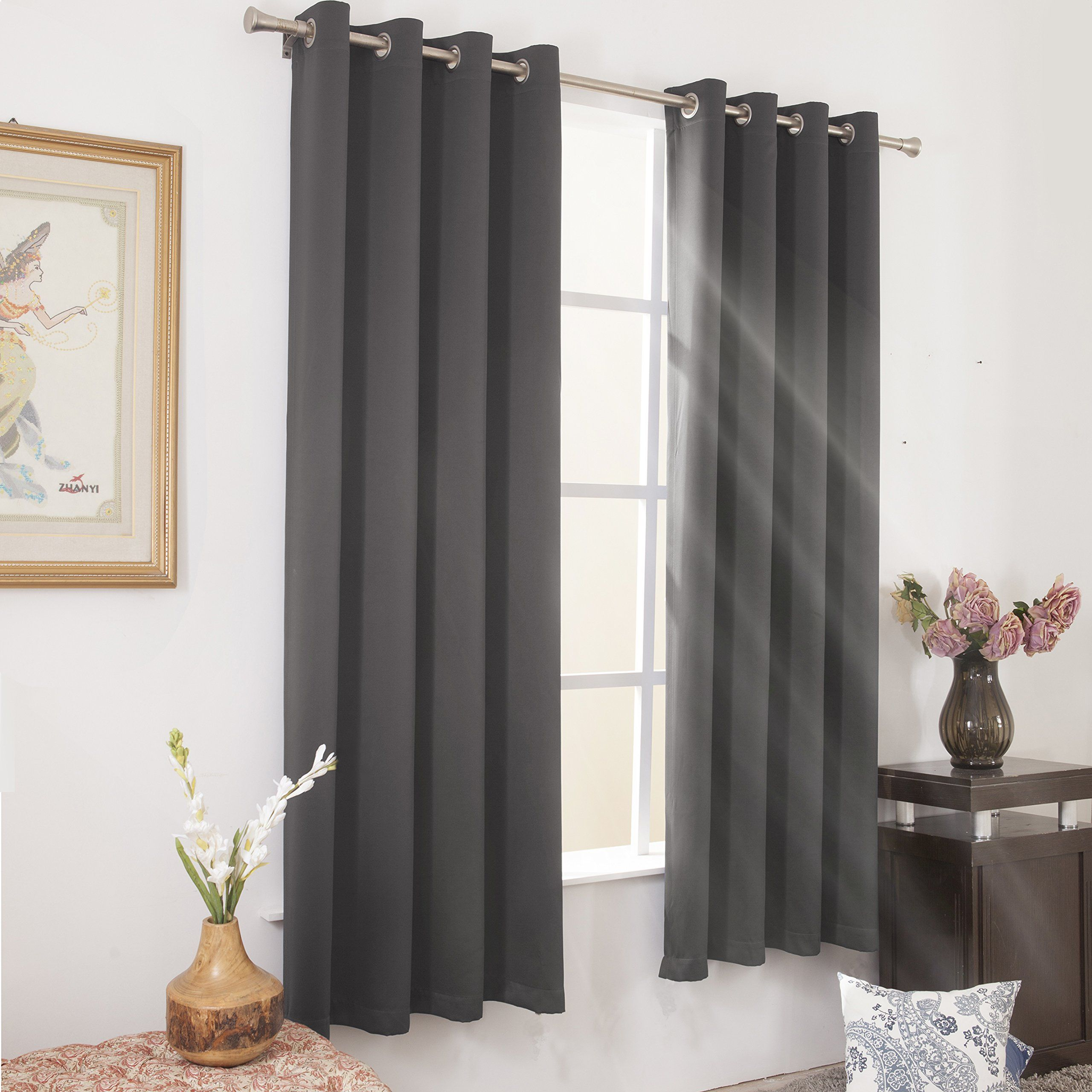 Short Blackout Curtains For Bedroom Http Www Otoseriilan Com Window Treatments Bedroom Curtains Bedroom Grey Blackout Curtains