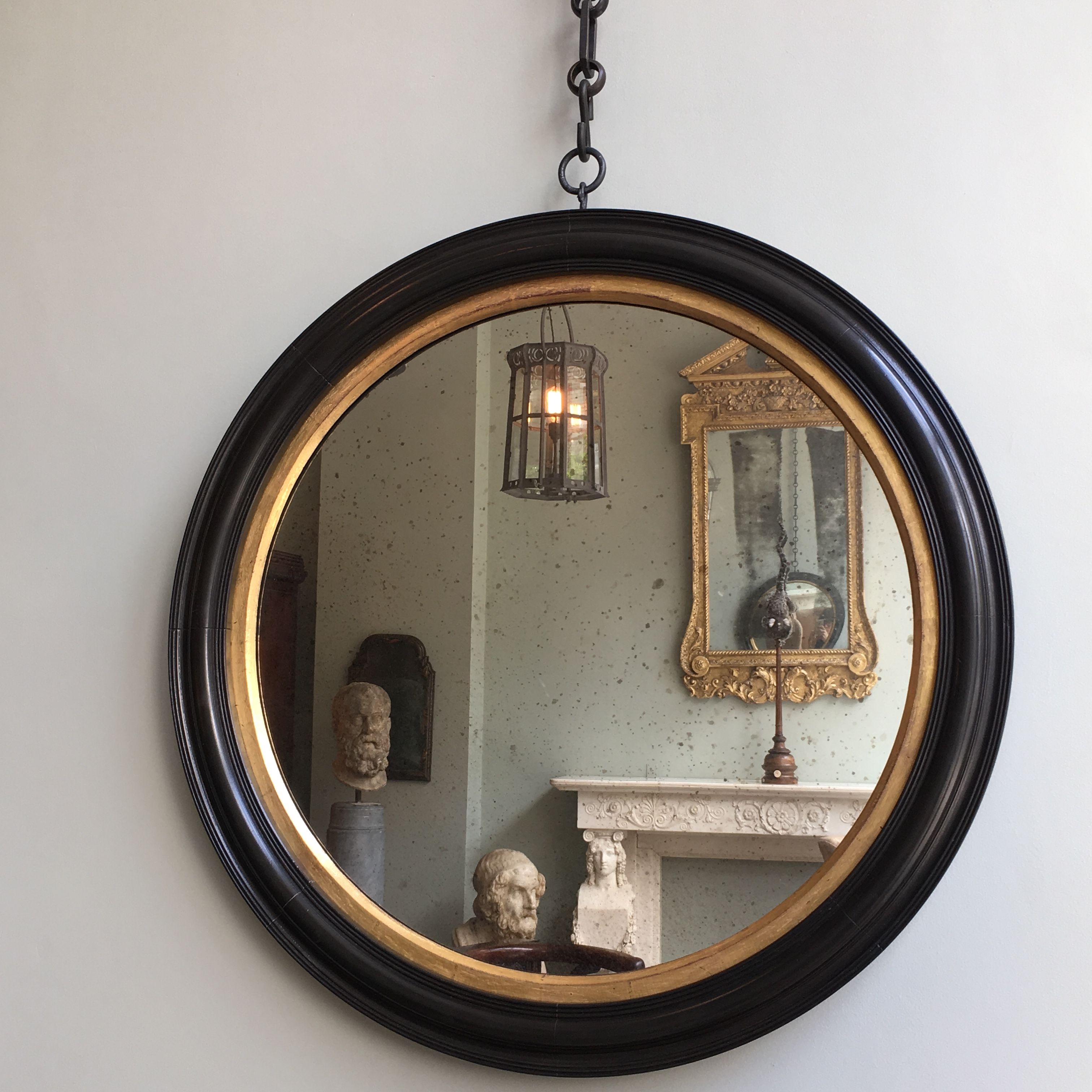 A Reflection Of #antiques Within Our Bucranium #reproduction Convex #mirror