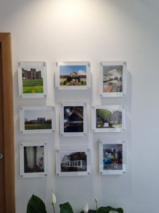Another Happy Customer With Our Wall Mounted Acrylic Frames That Have Been Displayed In Their Office These Frames Ar Frame Frames On Wall Photo Picture Frames