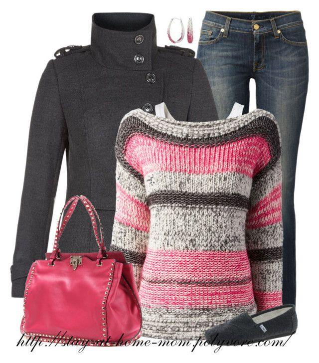 """Striped Sweater"" by stay-at-home-mom ❤ liked on Polyvore"