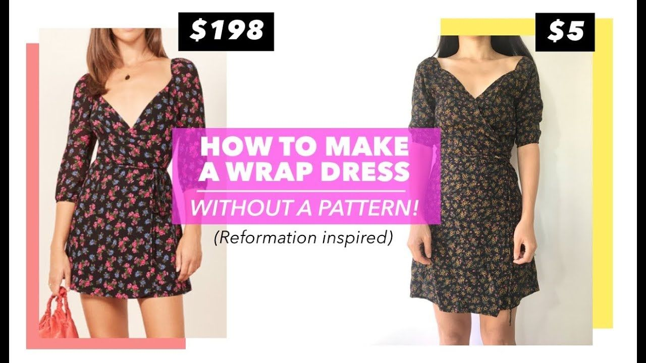 How To Make A Wrap Dress Without A Pattern (Reformation