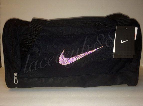 69d585a231e0 ... low priced df99d 550df Bling Swarovski Nike Duffel Bag-Black