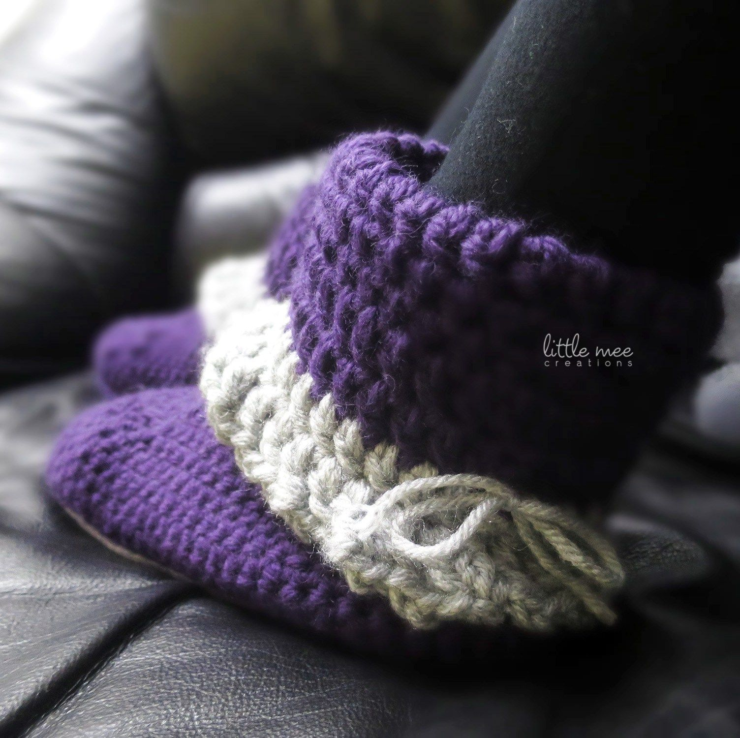 royal convertible slipper boots by LittleMeeCreations crochet ...
