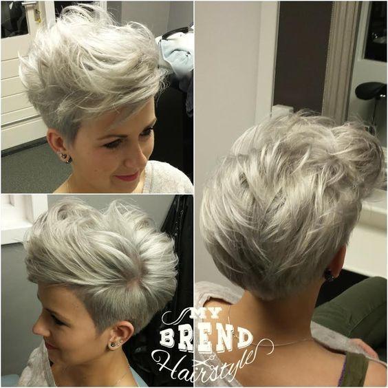 10 neueste kurze Haarschnitt für feines Haar und stilvolle kurze Haarfarbe Trends #finehair