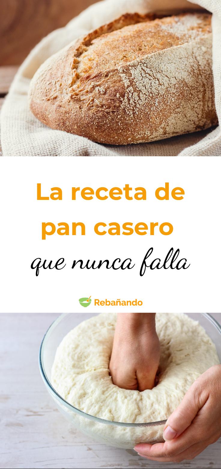 La receta de PAN CASERO que NUNCA FALLA
