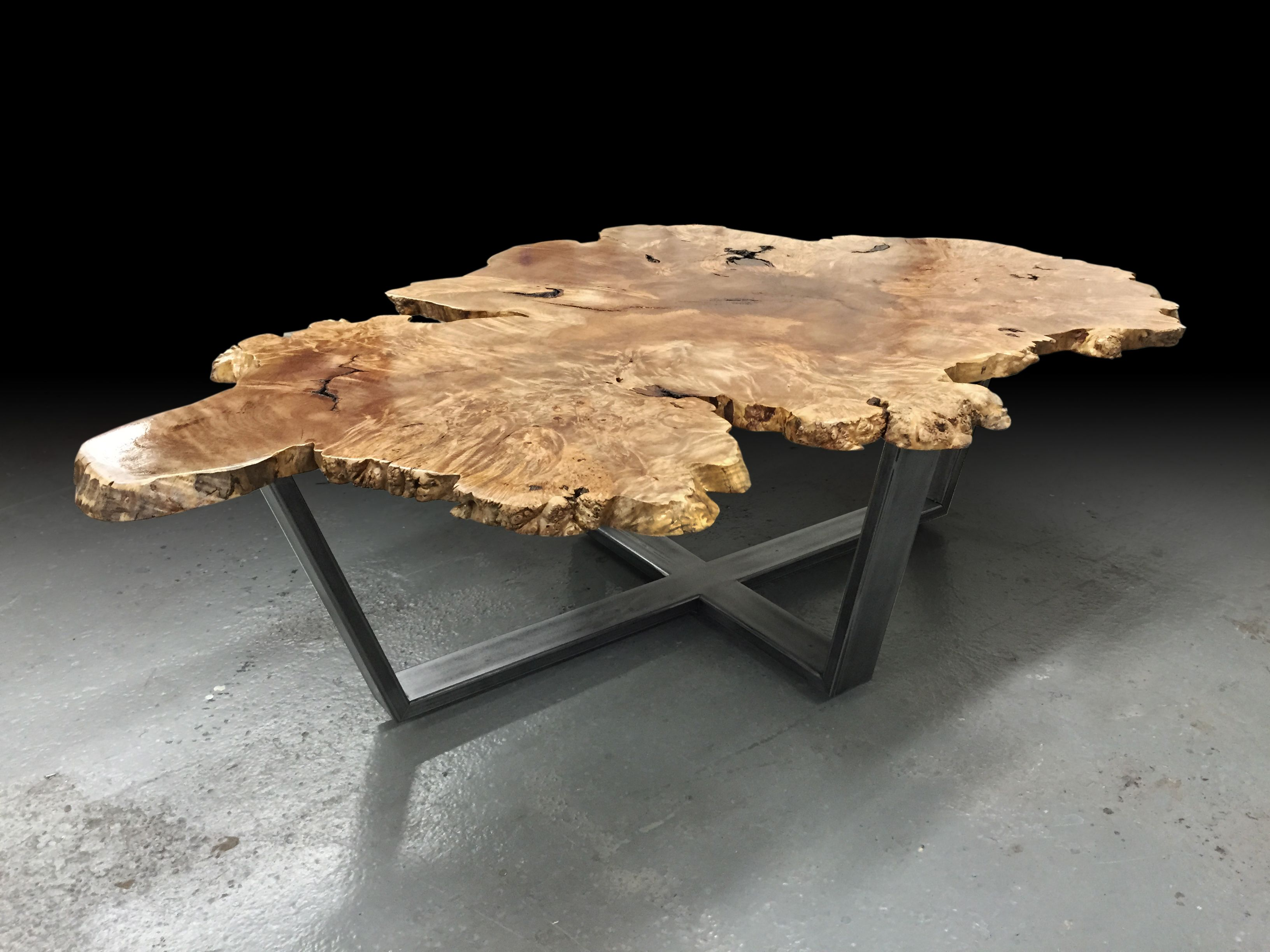 BURL COFFEE TABLE   Live Edge Custom Furniture And Architectural Elements  Made From Reclaimed Wood And