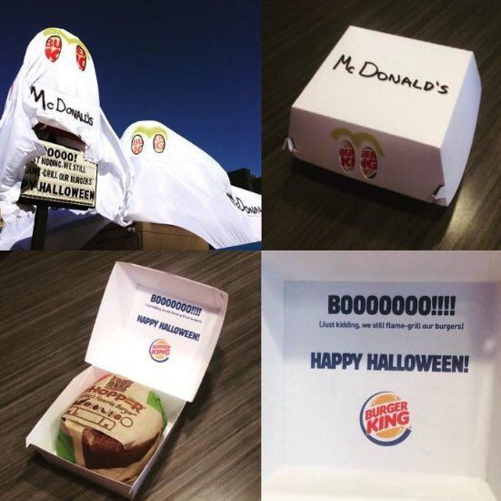 Burger King have won Halloween, they dressed their store up as McDonalds