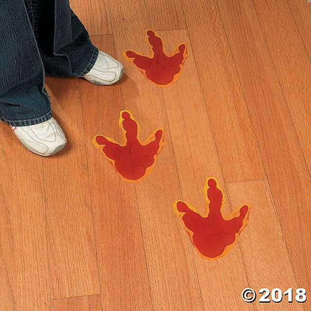 Lead Your Guests To The Fun With These Dino Mite Footprint Floor Decals Dinosaur Party Supplie Dinosaur Party Supplies Dinosaur Footprint Scholastic Book Fair