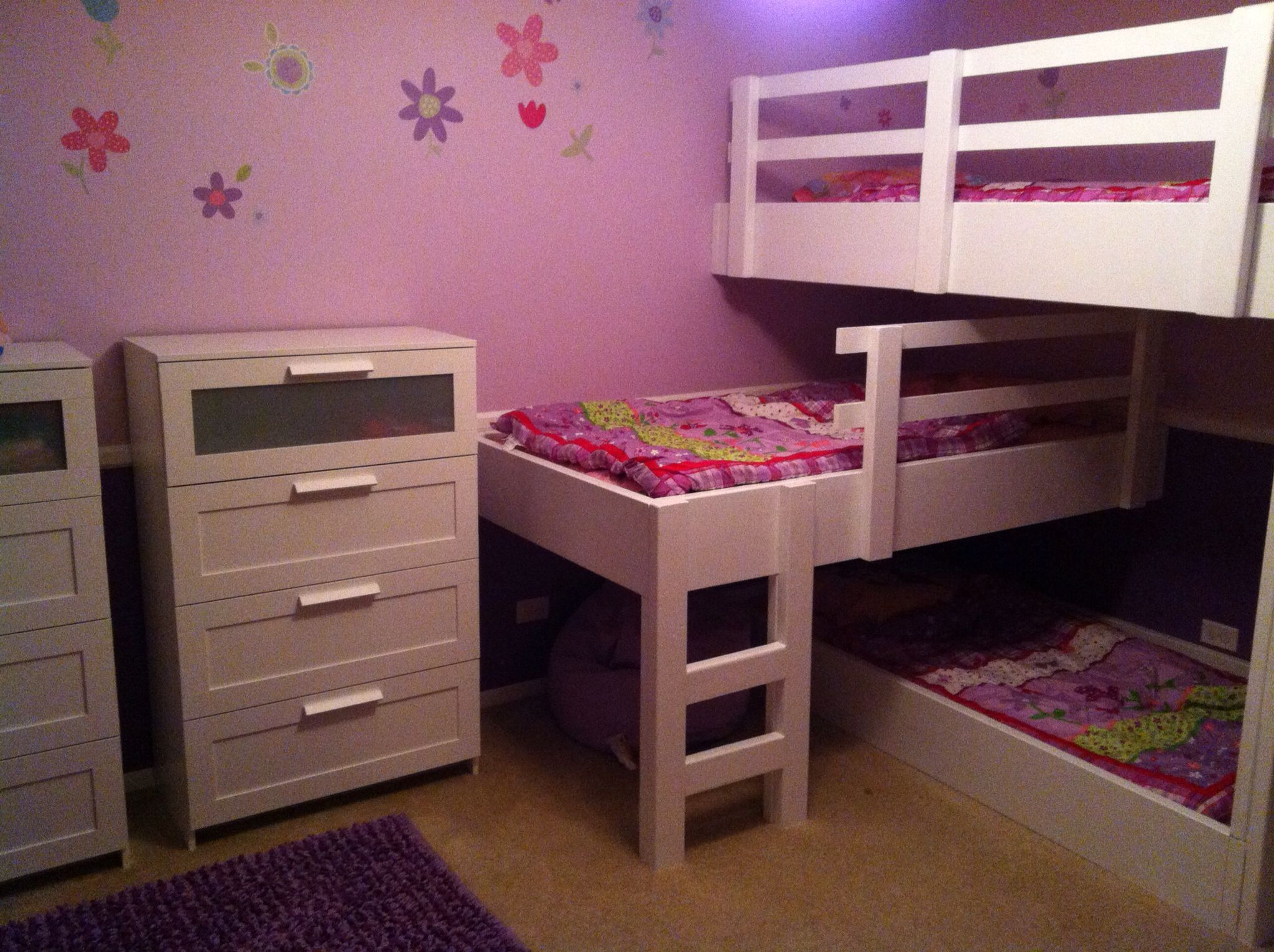 camper beds for little girls made the beds to match the furniture we bought them girls. Black Bedroom Furniture Sets. Home Design Ideas
