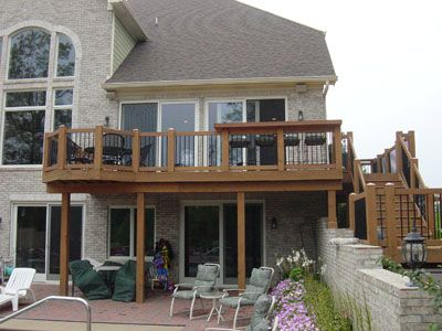Basement Entrance Ideas Second Story Deck Designs Simple Deck