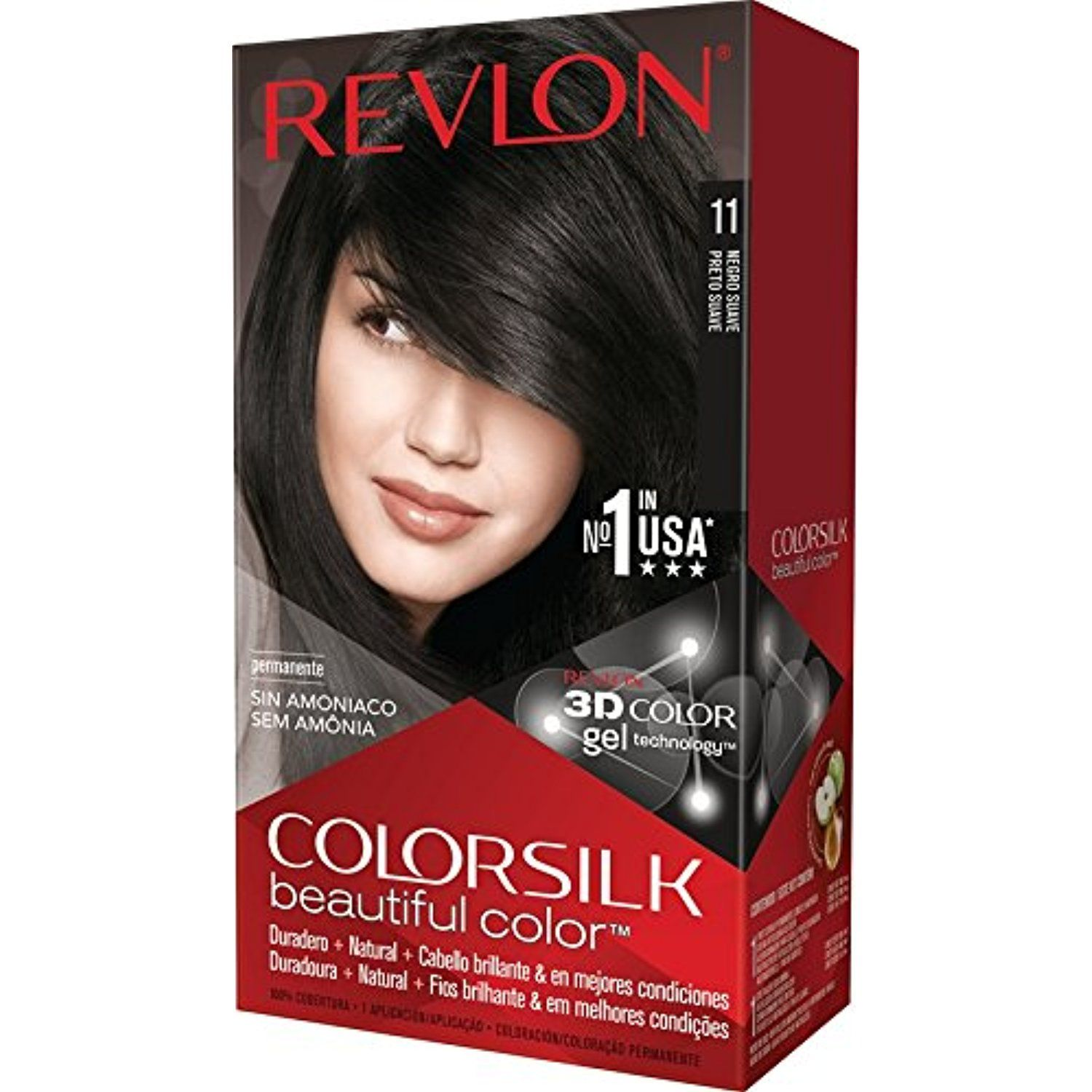 Revlon Colorsilk Beautiful Color Soft Black Personalcare