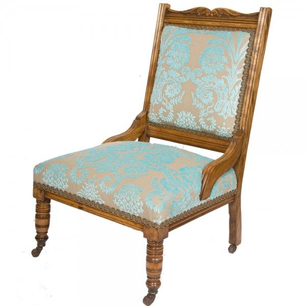Large Late Victorian Nursing Chair   The Unique Seat Company