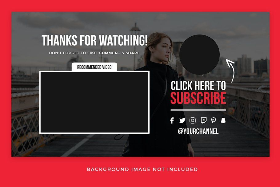 Youtube End Card Templates Card Templates Youtube Channel Art Channel Branding