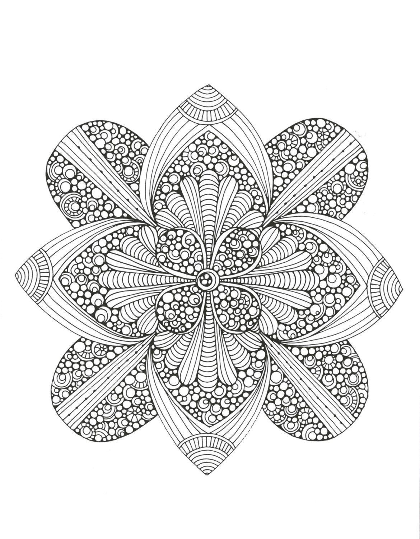 Creative Coloring Mandalas Adult Coloring by KaysCraftSupplies ...