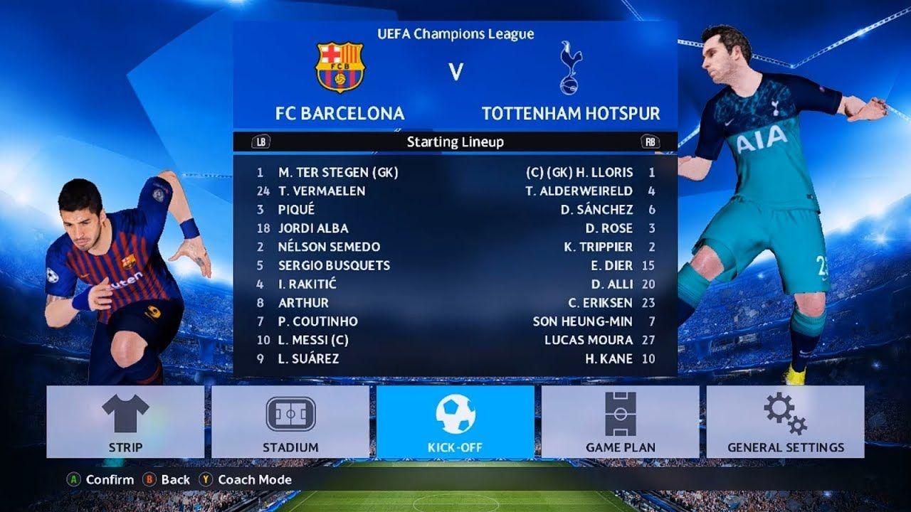 Barcelona Vs Tottenham Hotspur Uefa Champions League Pes 2017
