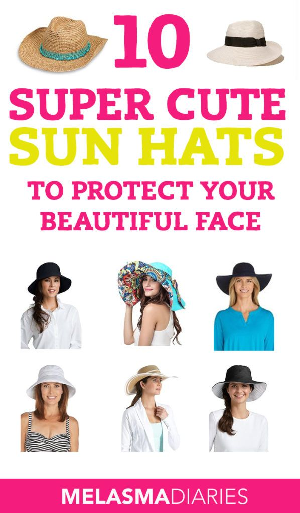 Check Out This List Of Super Cute Sun Hats With Built In Spf To Protect Your Face From The Sun Great For Women Who Are Lo Sun Hats Cute Sun Sun