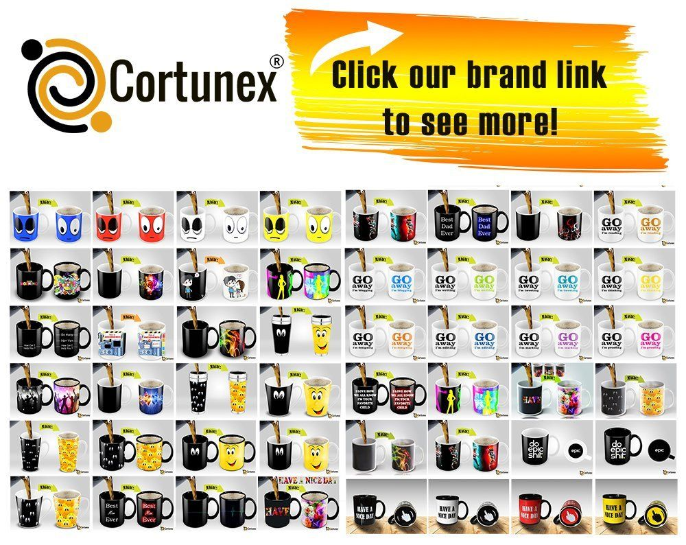 Heat Sensitive Mug | Color Changing Coffee Mug | Funny Coffee Cup | Red Wake Up Funny Face | 11oz 100% Ceramic Mugs| Great Gift Idea