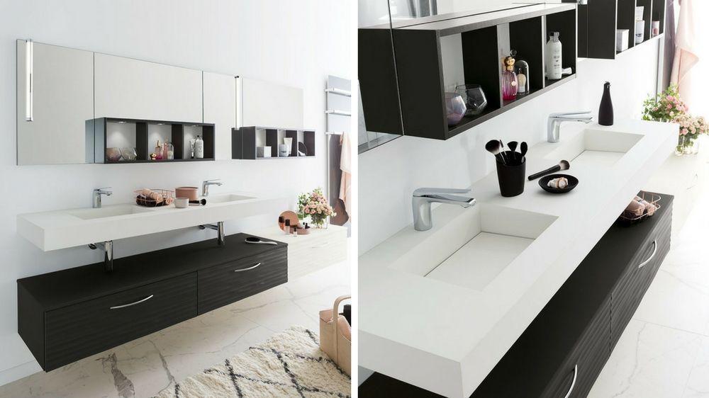 Hauteur vasque salle de bains moderne romantique Salle de bain