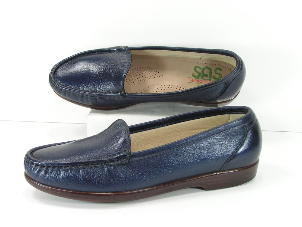 754a4a15e70 sas shoes womens 8.5 M blue loafers tripad comfort flats navy slippers  sas   LoafersMoccasins