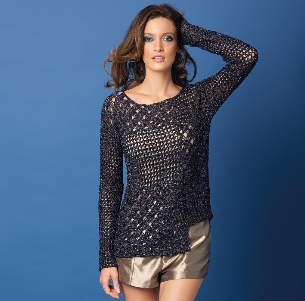 пуловер для девочки схема