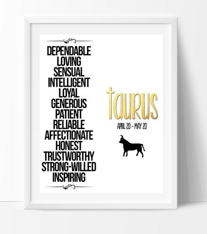 Taurus Qualities Print