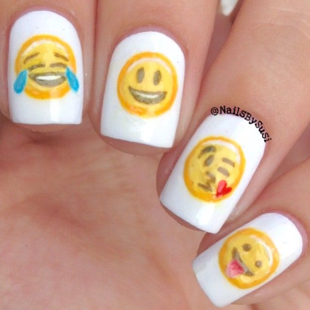 Emoji Nail Art And Some New Kit From Moyou: #Emoji #nails