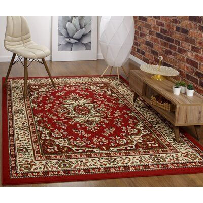 Astoria Grand Koa Oriental Maroon Beige Area Rug Rugs In Living