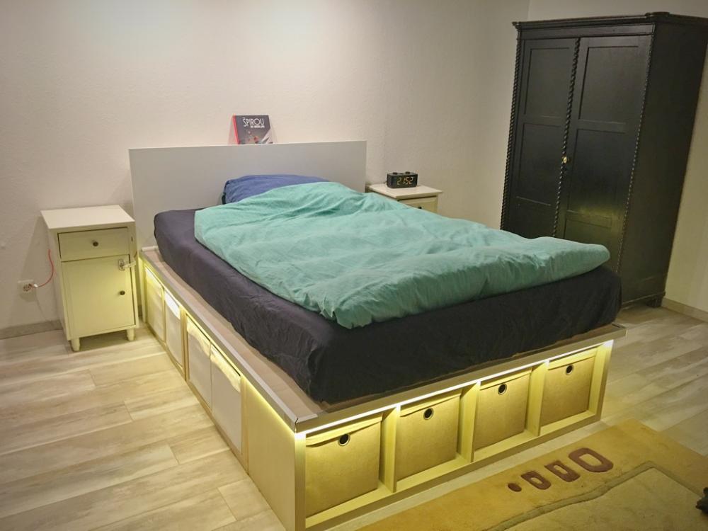 9 IKEA Hacks for Small Spaces Kallax ikea, Water bed