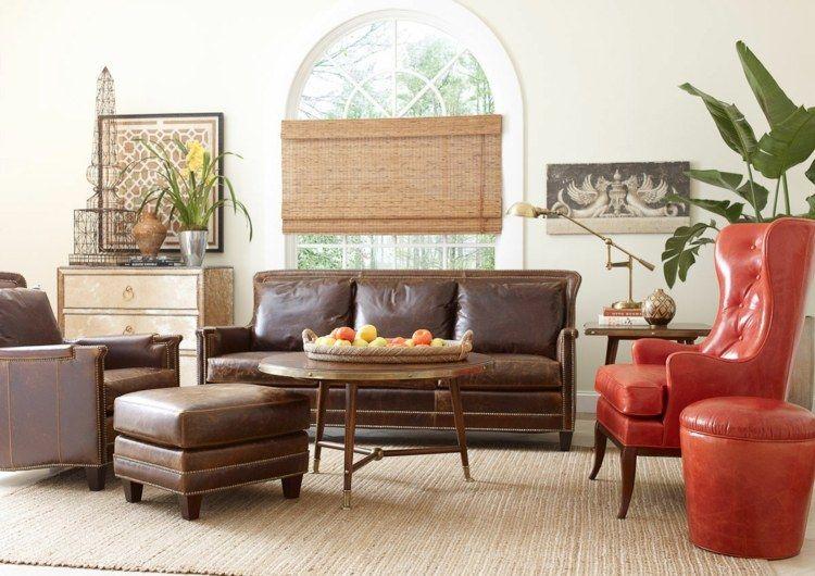 Aménagement Salon Avec Canapé Marron Pour Y Inviter Le Raffinement - Canape cuir et fauteuil