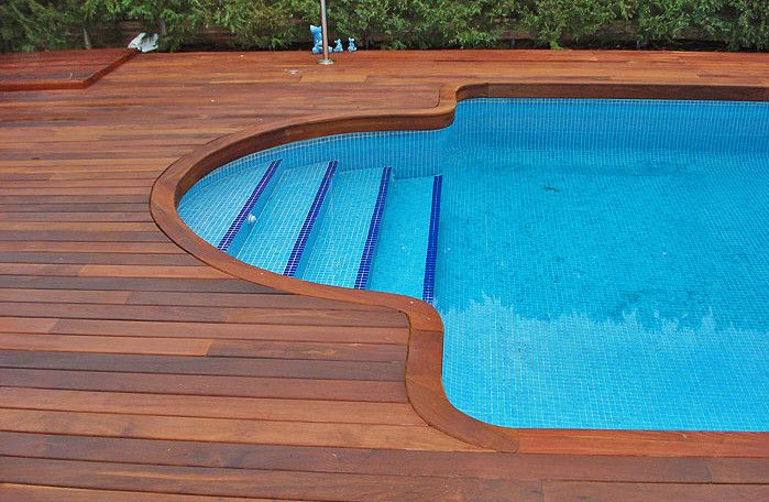 Decks for inground pools pools backyards pinterest for In ground pool deck ideas