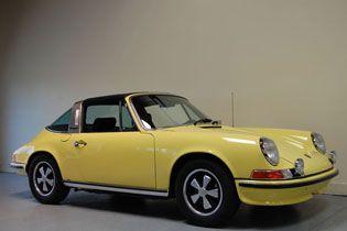 1972 Porsche 911s Targa Light Yellow Vintage Porsche Porsche 911 Targa Classic Porsche