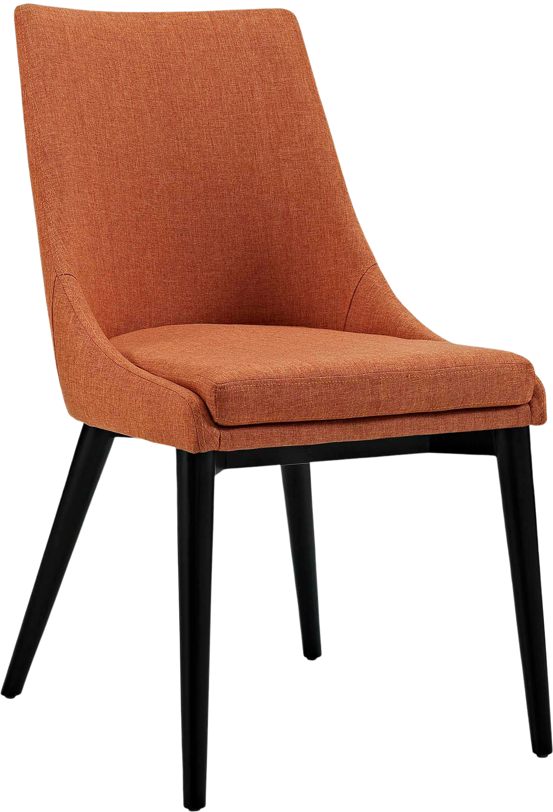 Viscount Fabric Dining Chair, Orange - Spruce Up: Search - dining chairs, black, minimalist