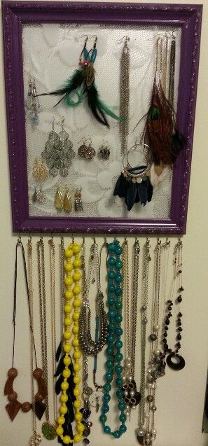 Earring and necklace holder :)
