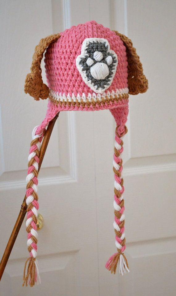 Free shipping Skye Puppy Animal Hats Crochet Hat Pattern, Crochet ...